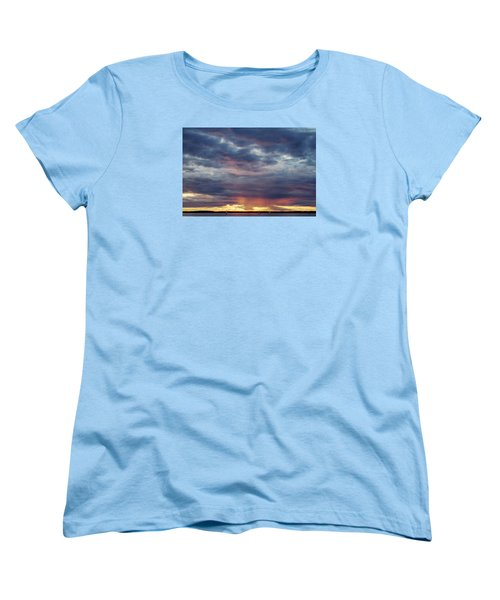 Sailboats On The Bay Women's T-Shirt (Standard Cut) by Elvira Butler