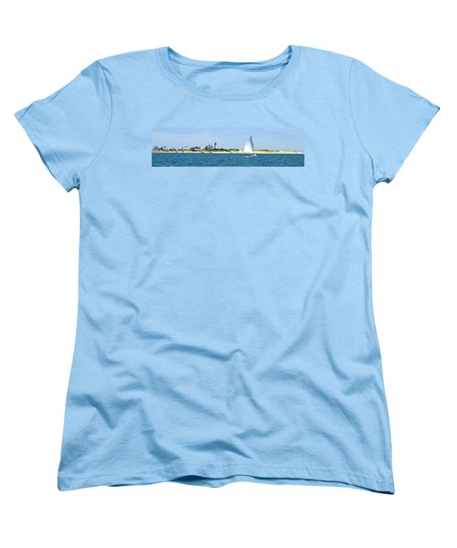 Sailing Around Barnstable Harbor Women's T-Shirt (Standard Cut) by Charles Harden