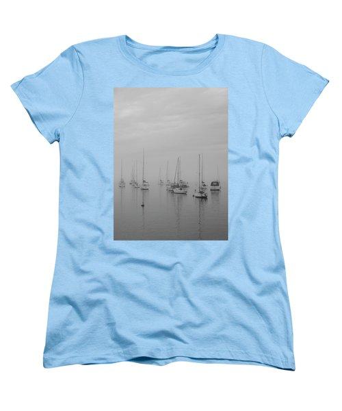 Sailing Bw Women's T-Shirt (Standard Cut) by Silvia Bruno