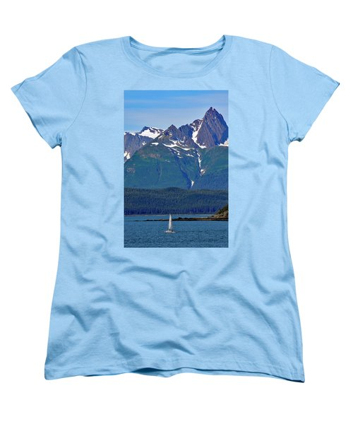 Sailing Lynn Canal Women's T-Shirt (Standard Cut)
