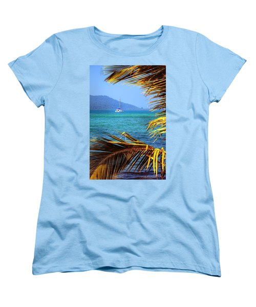 Women's T-Shirt (Standard Cut) featuring the photograph Sailing Vacation by Alexey Stiop