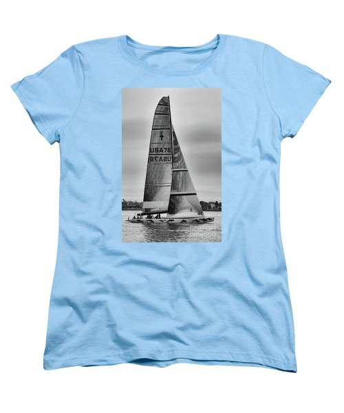 Sailing With Dolphins Women's T-Shirt (Standard Cut) by Mariola Bitner