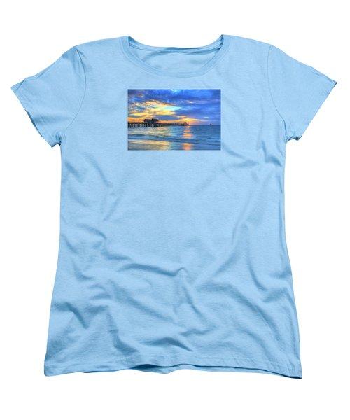 Women's T-Shirt (Standard Cut) featuring the digital art Sailor's Delight by Sharon Batdorf