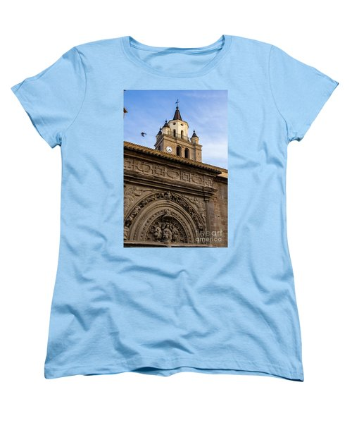 Women's T-Shirt (Standard Cut) featuring the photograph Saint Hieronymus Facade Of Calahorra Cathedral by RicardMN Photography