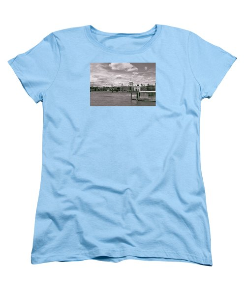Saint Pauls Cathedral Along The Thames Women's T-Shirt (Standard Cut) by Nop Briex