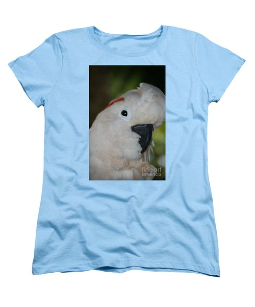 Salmon Crested Cockatoo Women's T-Shirt (Standard Cut) by Sharon Mau