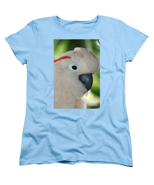 Salmon Crested Moluccan Cockatoo Women's T-Shirt (Standard Cut) by Sharon Mau