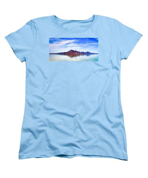 Salt Lake Mountain Women's T-Shirt (Standard Cut) by Robert FERD Frank