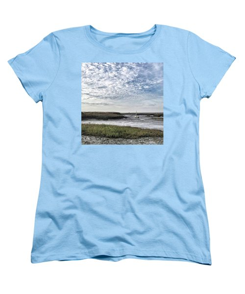 Salt Marsh And Creek, Brancaster Women's T-Shirt (Standard Cut) by John Edwards