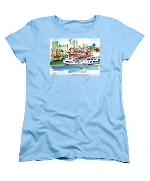 San Francisco Cityfront From Aquatic Park Women's T-Shirt (Standard Cut) by Tom Simmons