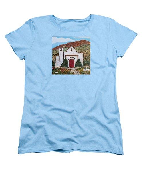 San Francisco De Asis Mission Church, Golden, Nm Women's T-Shirt (Standard Cut)