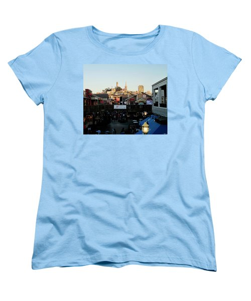 Women's T-Shirt (Standard Cut) featuring the photograph San Francisco In The Sun by Tony Mathews