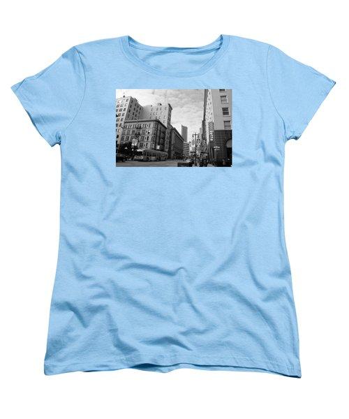 San Francisco - Jessie Street View - Black And White Women's T-Shirt (Standard Cut) by Matt Harang