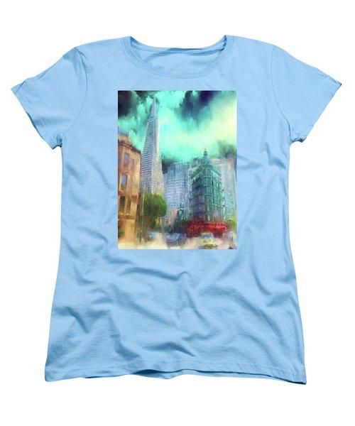 San Francisco Women's T-Shirt (Standard Cut) by Michael Cleere