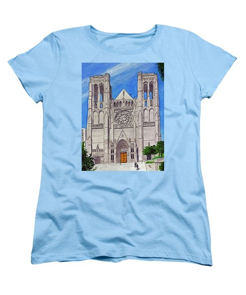 San Francisco's Grace Cathedral Women's T-Shirt (Standard Cut) by Mike Robles