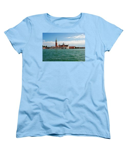 Women's T-Shirt (Standard Cut) featuring the photograph San Giorgio Maggiore Canal Shot by Robert Moss