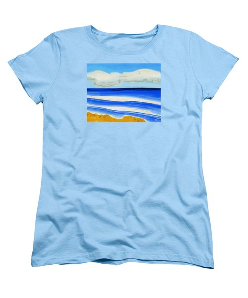 Women's T-Shirt (Standard Cut) featuring the painting San Juan, Puerto Rico by Dick Sauer