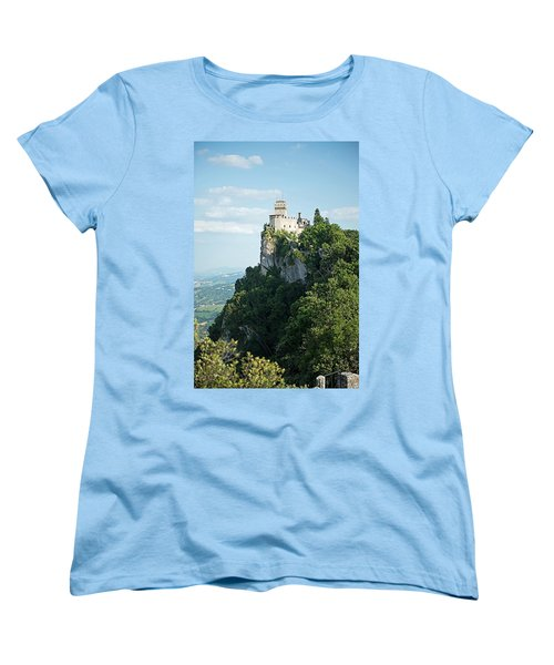 Women's T-Shirt (Standard Cut) featuring the photograph San Marino - Guaita Castle Fortress by Joseph Hendrix