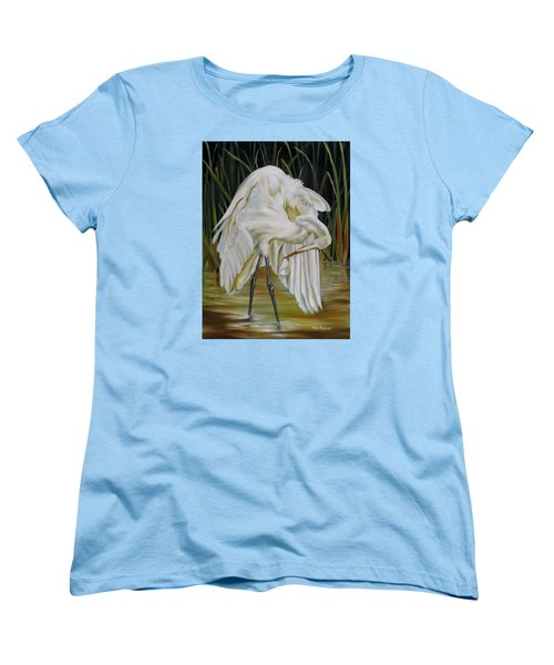 Women's T-Shirt (Standard Cut) featuring the painting Sanctuary by Phyllis Beiser