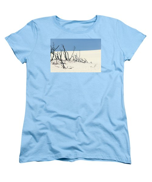 Sand Dune With Dead Trees Women's T-Shirt (Standard Cut) by Chevy Fleet
