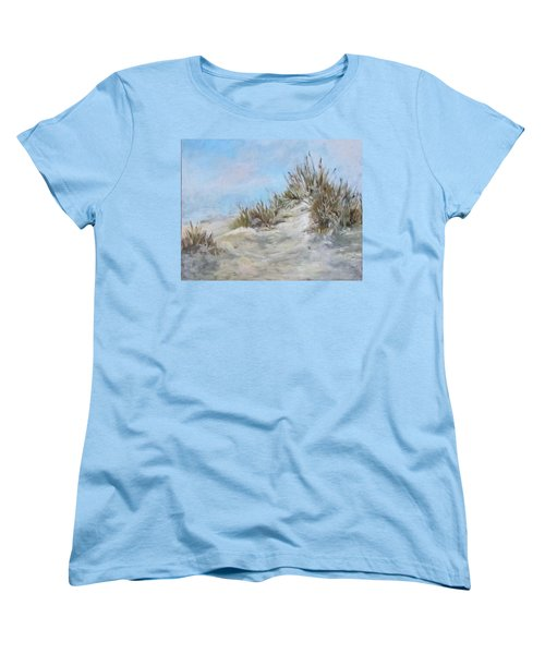 Sand Dunes And Salty Air Women's T-Shirt (Standard Cut) by Barbara O'Toole