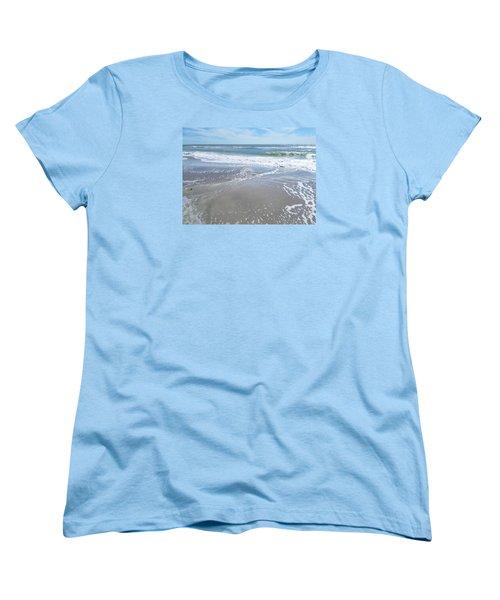 Women's T-Shirt (Standard Cut) featuring the photograph Sand, Sea, Sun, No. 3 by Ginny Schmidt