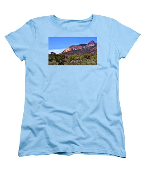 Sandia Sunset Women's T-Shirt (Standard Cut) by Gina Savage