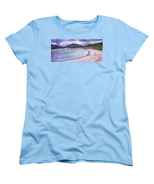 Women's T-Shirt (Standard Cut) featuring the painting Sands, Harris by Richard James Digance