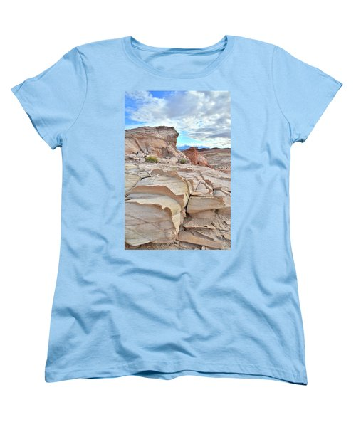 Sandstone Staircase In Valley Of Fire Women's T-Shirt (Standard Cut) by Ray Mathis