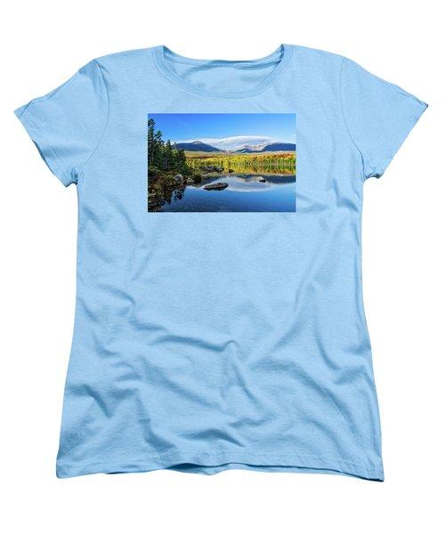 Sandy Stream Pond Baxter Sp Maine Women's T-Shirt (Standard Cut) by Michael Hubley