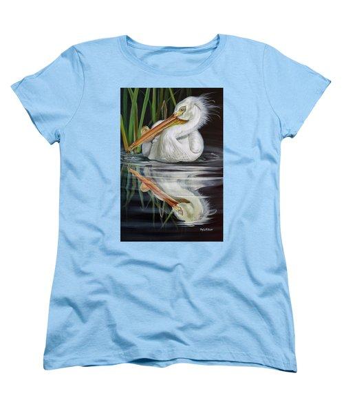 Sandy's Pelican Women's T-Shirt (Standard Cut) by Phyllis Beiser