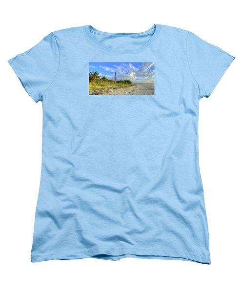 Sanibel Light House Women's T-Shirt (Standard Cut) by Sean Allen
