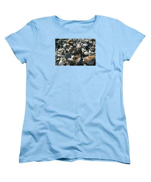Women's T-Shirt (Standard Cut) featuring the photograph Sanibel Shells by Sandy Molinaro