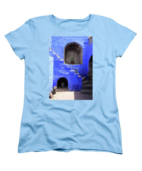 Women's T-Shirt (Standard Cut) featuring the photograph Santa Catalina Monastery, Arequipa, Peru by Aidan Moran
