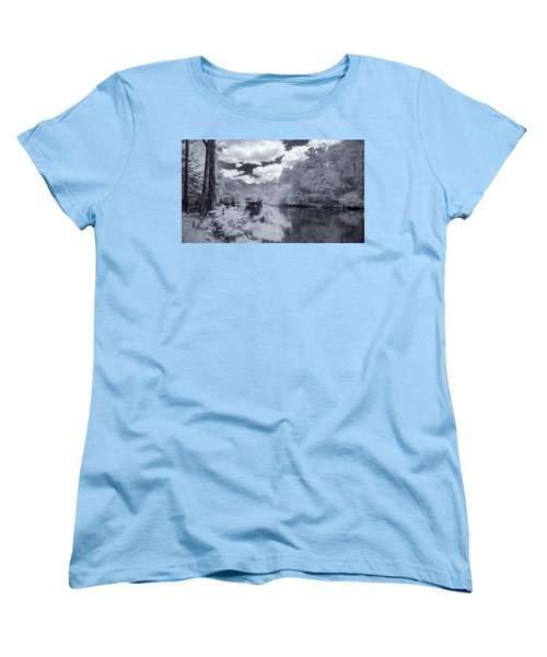 Women's T-Shirt (Standard Cut) featuring the photograph Santa Fe River Reflections by Louis Ferreira