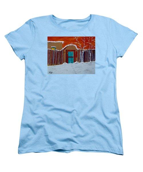 Santa Fe Snowstorm Women's T-Shirt (Standard Cut) by Joseph Frank Baraba