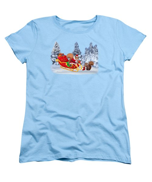 Santa's Little Helper Women's T-Shirt (Standard Cut) by Glenn Holbrook