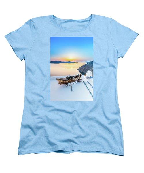 Santorini - Greece Women's T-Shirt (Standard Cut) by Stavros Argyropoulos