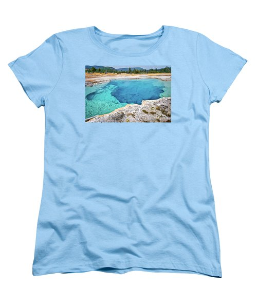 Sapphire Pool, Biscuit Basin Women's T-Shirt (Standard Fit)