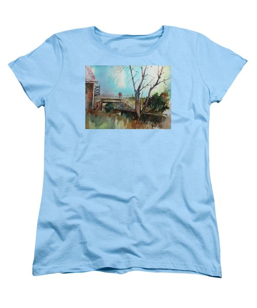 Sara's Viewi Of The Jones River Women's T-Shirt (Standard Cut) by P Anthony Visco