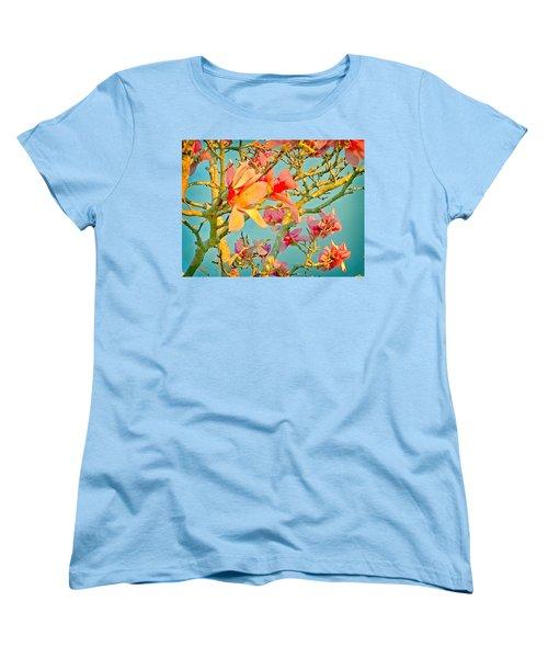 Saucer Magnolia Women's T-Shirt (Standard Cut) by Angela Annas
