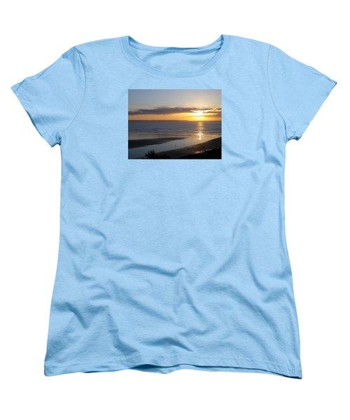 Saunton Sands Sunset Women's T-Shirt (Standard Cut) by Richard Brookes