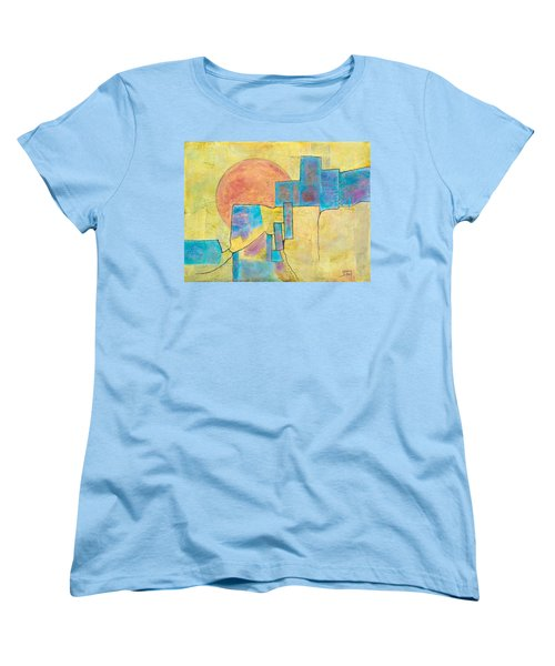 Women's T-Shirt (Standard Cut) featuring the painting Sausalito by Nancy Jolley
