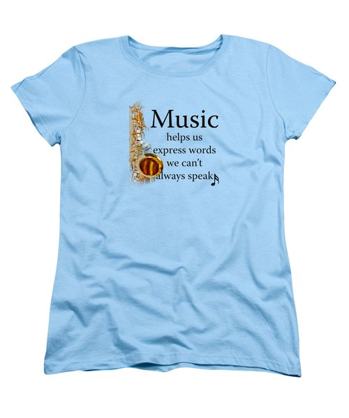 Saxophones Express Words Women's T-Shirt (Standard Cut) by M K  Miller