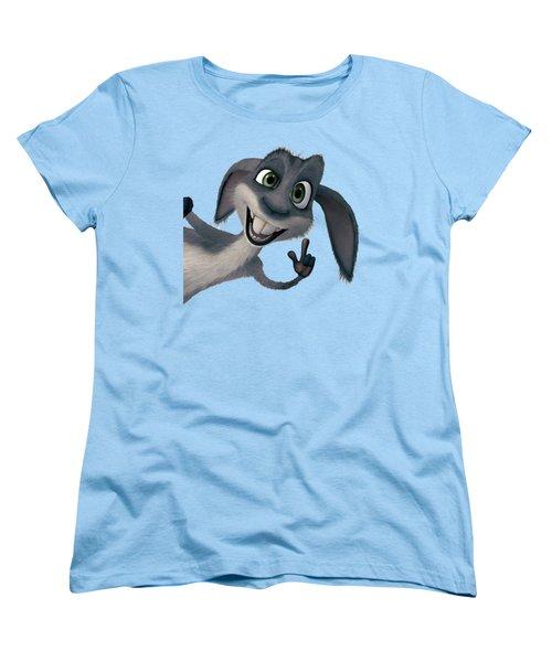Saying Hi T-shirt  Women's T-Shirt (Standard Cut) by Herb Strobino