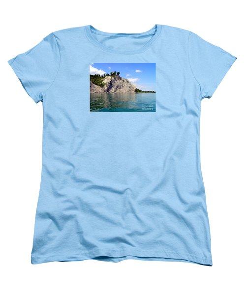 Scarborough Bluffs-lake View Women's T-Shirt (Standard Cut) by Susan  Dimitrakopoulos