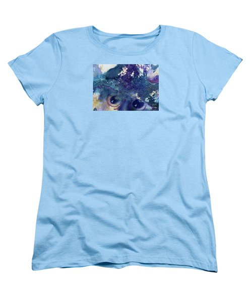 Women's T-Shirt (Standard Cut) featuring the painting Scarecrow Eyes by Kathy Braud