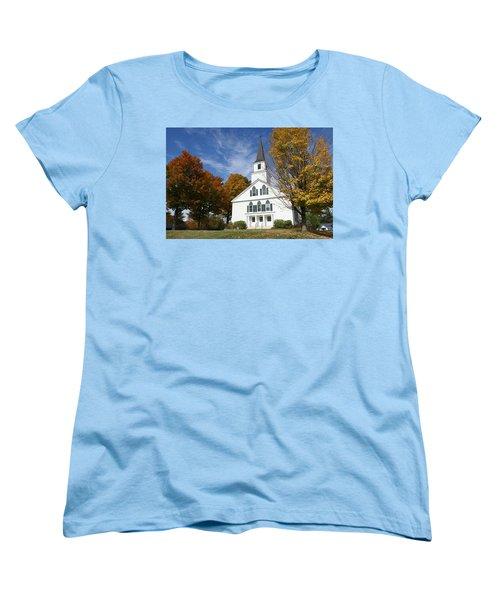 Scenic Church In Autumn Women's T-Shirt (Standard Cut)