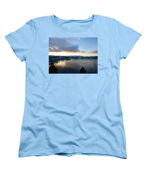 Women's T-Shirt (Standard Cut) featuring the photograph Scenic Lake Country by Will Borden