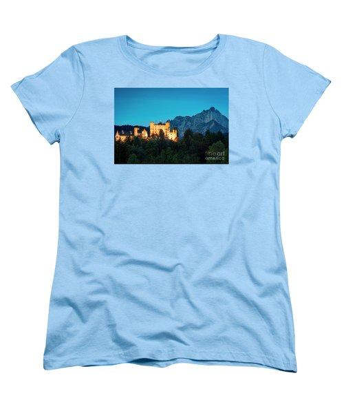 Women's T-Shirt (Standard Cut) featuring the photograph Schloss Hohenschwangau by Brian Jannsen